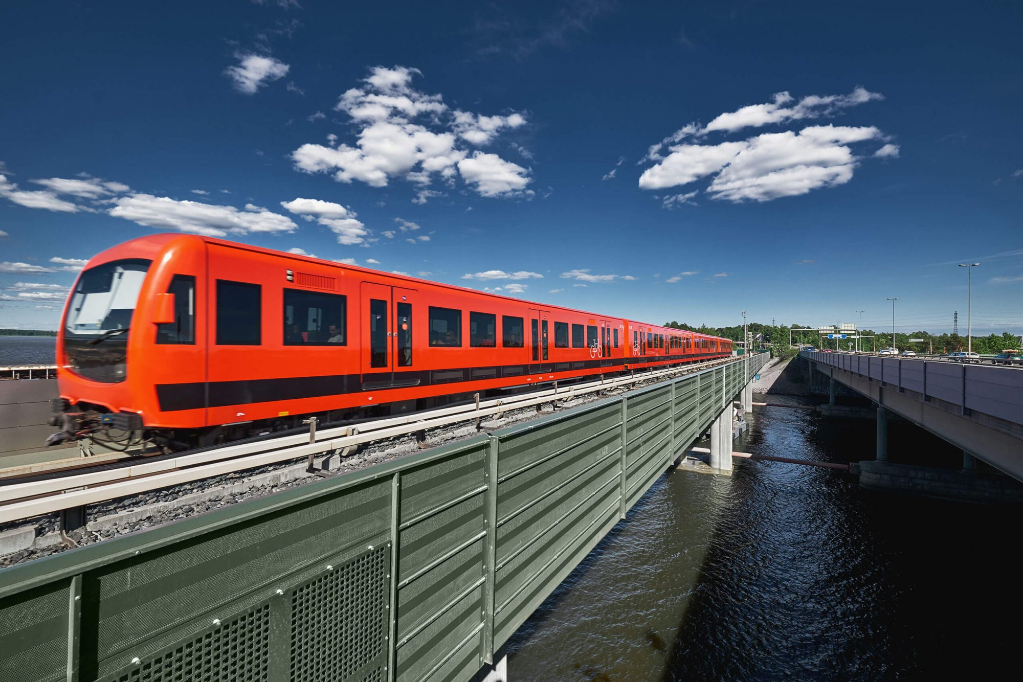 Metro Train on Bridge