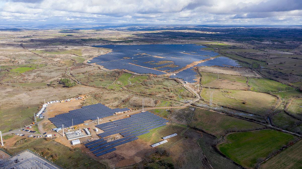 Mogoduoro Solar Farm aerial view